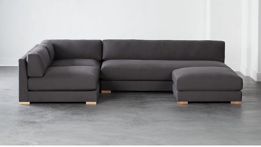 Piazza Dark Grey 4-Piece Modular Full Sofa Sectional - Image 1 of 4