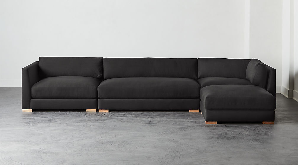 Piazza Dark Grey 4-Piece Modular Sectional Sofa - Image 1 of 6