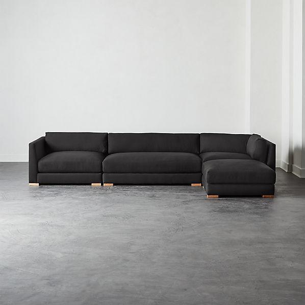4 Piece Modular Sectional Sofa Cb2