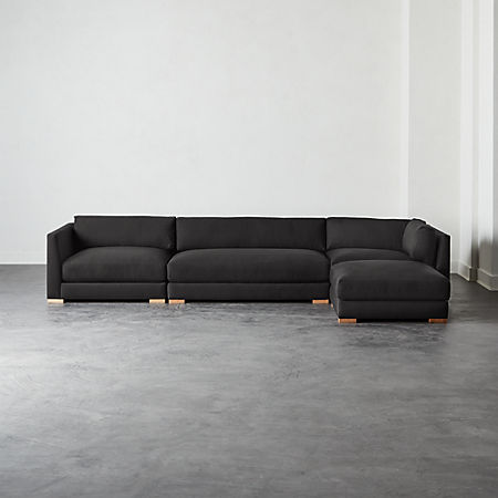 4 Piece Modular Sectional Sofa Cb2