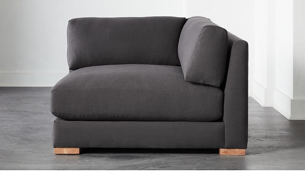 Piazza Dark Grey Corner Chair - Image 1 of 6