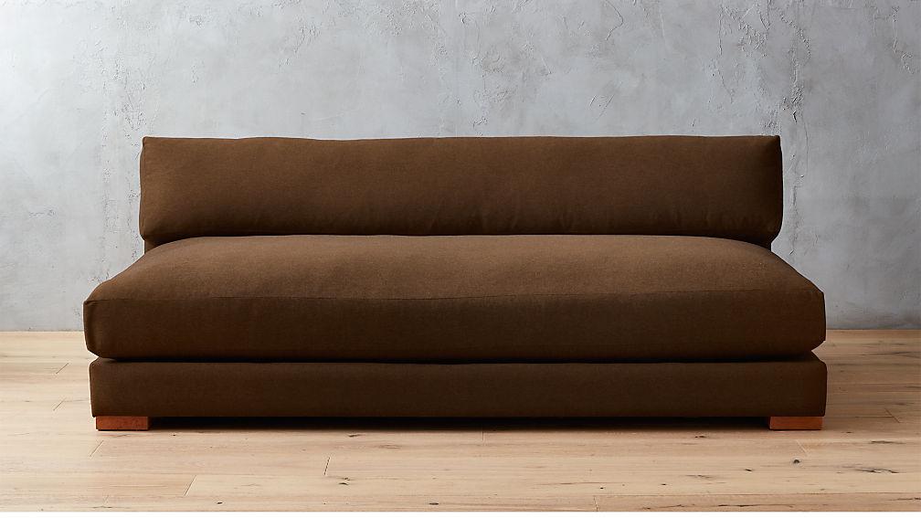 Piazza Long Single Cushion Sofa + Reviews | CB2