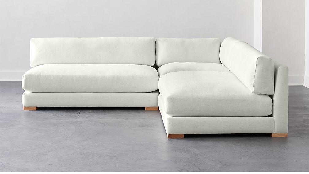 Piazza Snow 3-Piece Modular Double Apartment Sofa Sectional + Reviews | CB2