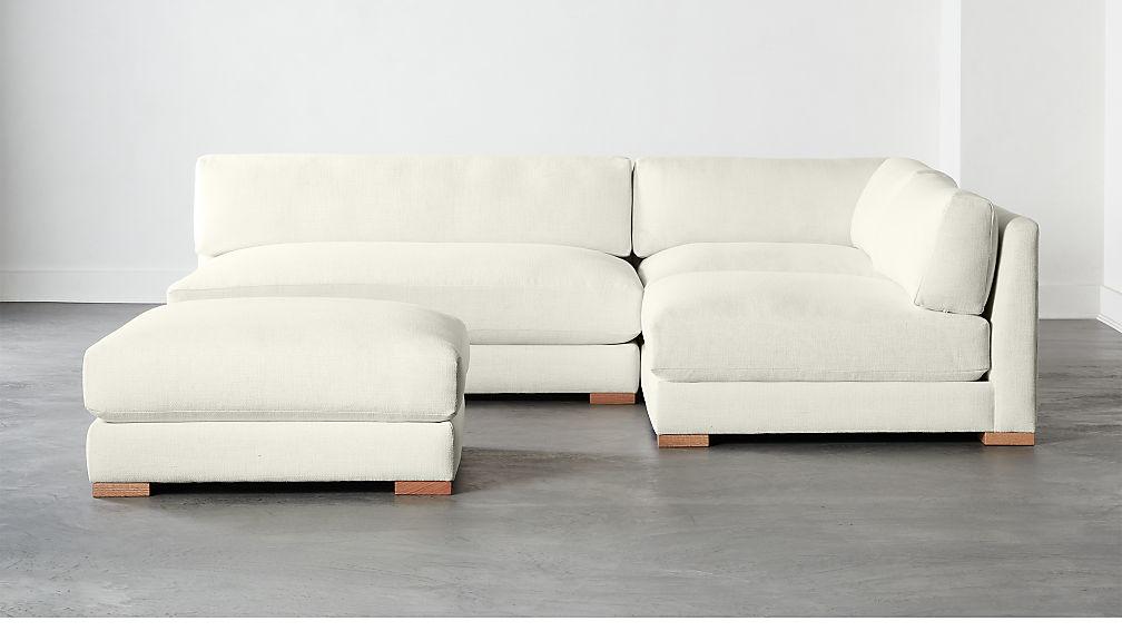Piazza Snow 4-Piece Modular Single Apartment Sofa Sectional + Reviews | CB2