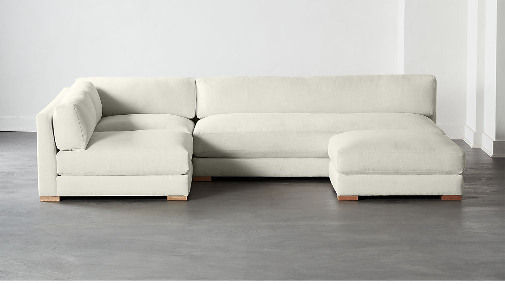 Piazza Snow 4-Piece Modular Full Sofa Sectional - Image 1 of 5