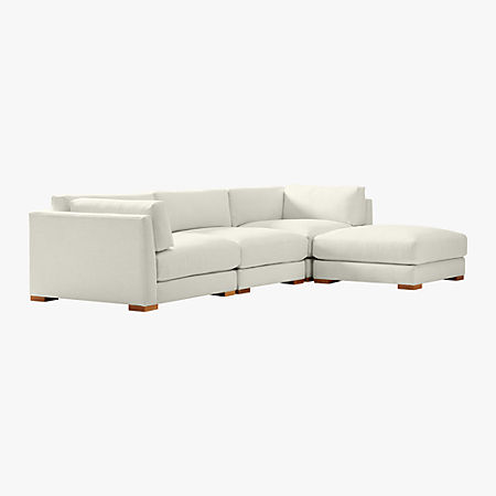 Fabulous Piazza 4 Piece Modular Sectional Sofa Cb2 Pabps2019 Chair Design Images Pabps2019Com