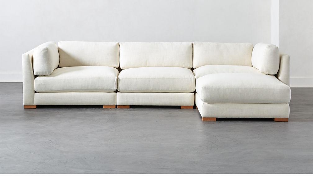 Piazza Snow 4-Piece Modular Sectional Sofa + Reviews | CB2