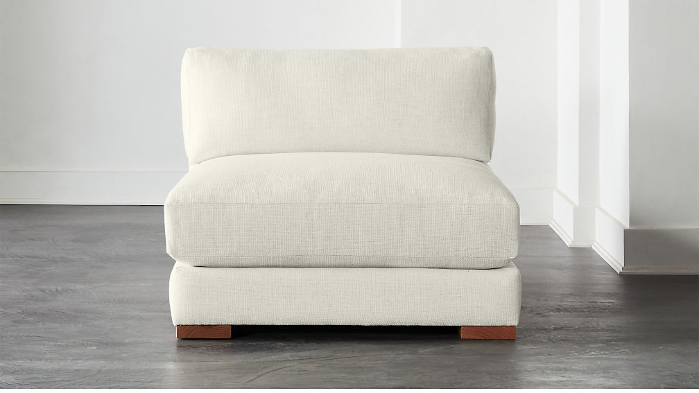 Piazza Snow Armless Chair - Image 1 of 6