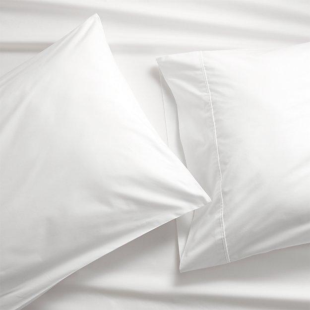 Set of 2 Pima 415 Thread Count White King Pillowcases - Image 1 of 4