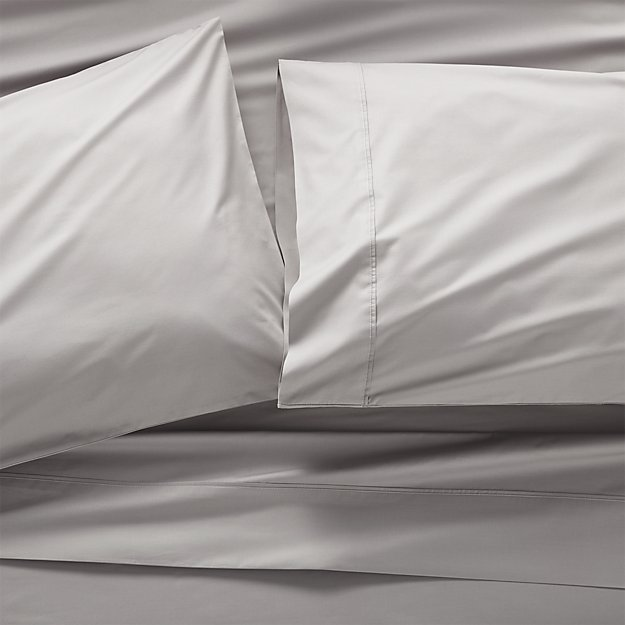 Pima 415 Thread Count Grey Queen Sheet Set - Image 1 of 2