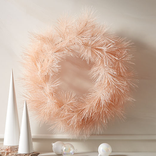 "Pine Pink Wreath 31"""