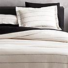 Linen Pinstripe Duvet Cover Twin