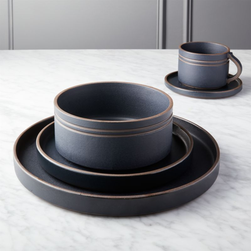 Pitch 5-Piece Place Setting & matte dinnerware | CB2