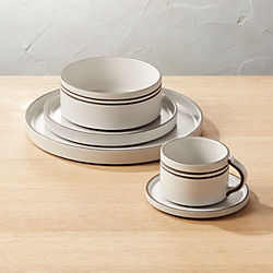 Pitch White Dinnerware & Modern Dinnerware and Unique Dinnerware Sets   CB2