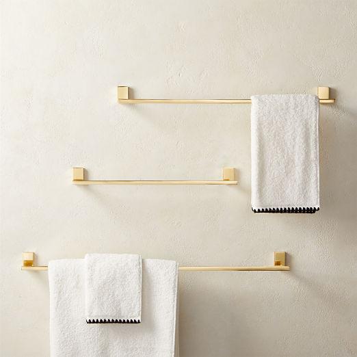 Plate Towel Bar Polished Brass