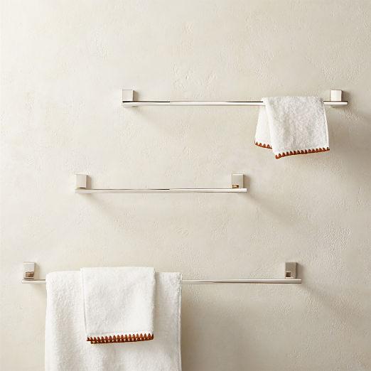 Plate Towel Bars Polished Nickel