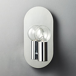 Plate Chrome Wall Sconce