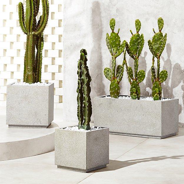 Playa Grey Planters - Image 1 of 10