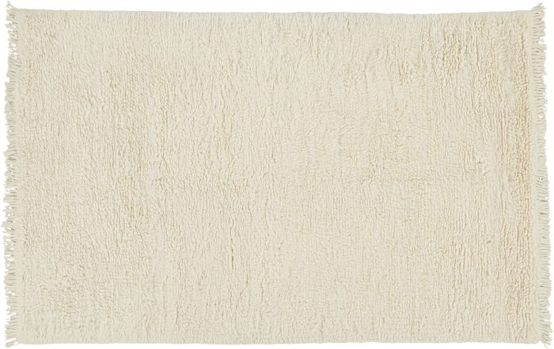 Plush Wool Shag Ivory Rug