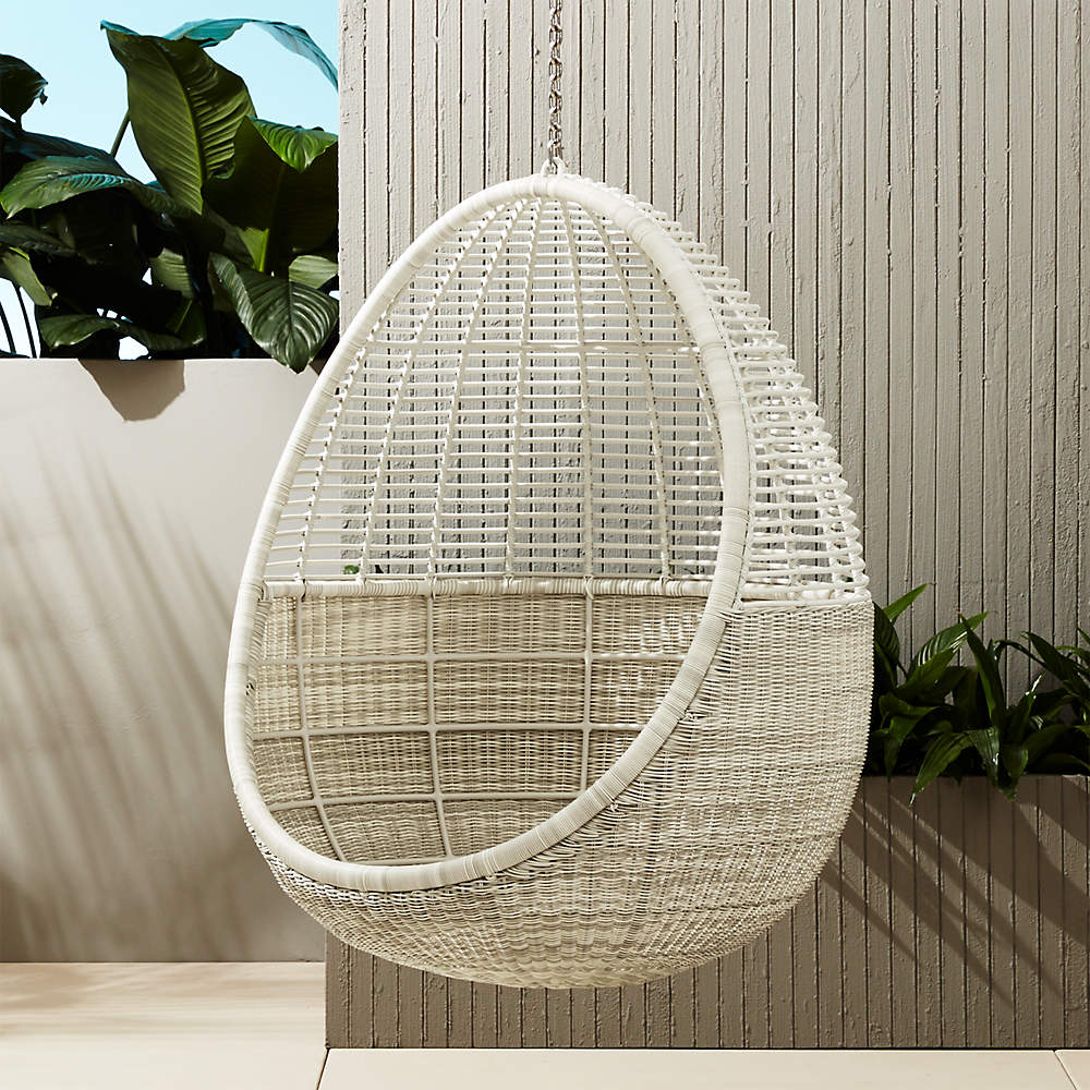 Pod Hanging Chair Reviews Cb2, Hanging Egg Chair Outdoor No Stand
