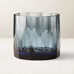 Point Dusty Blue Double Old-Fashioned Glass
