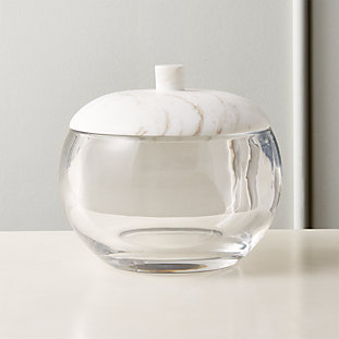 Polar Glass and Marble Ice Bucket