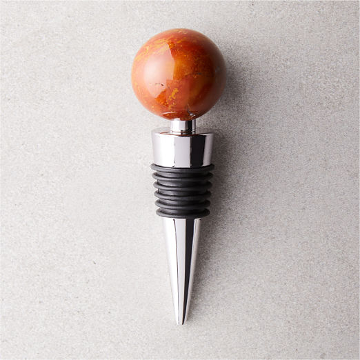 Polished Red Jasper Bottle Stopper