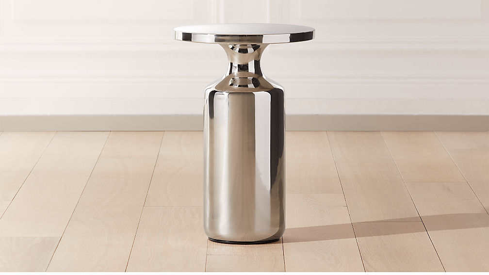 Cheval Polished Silver Side Table - Image 1 of 9