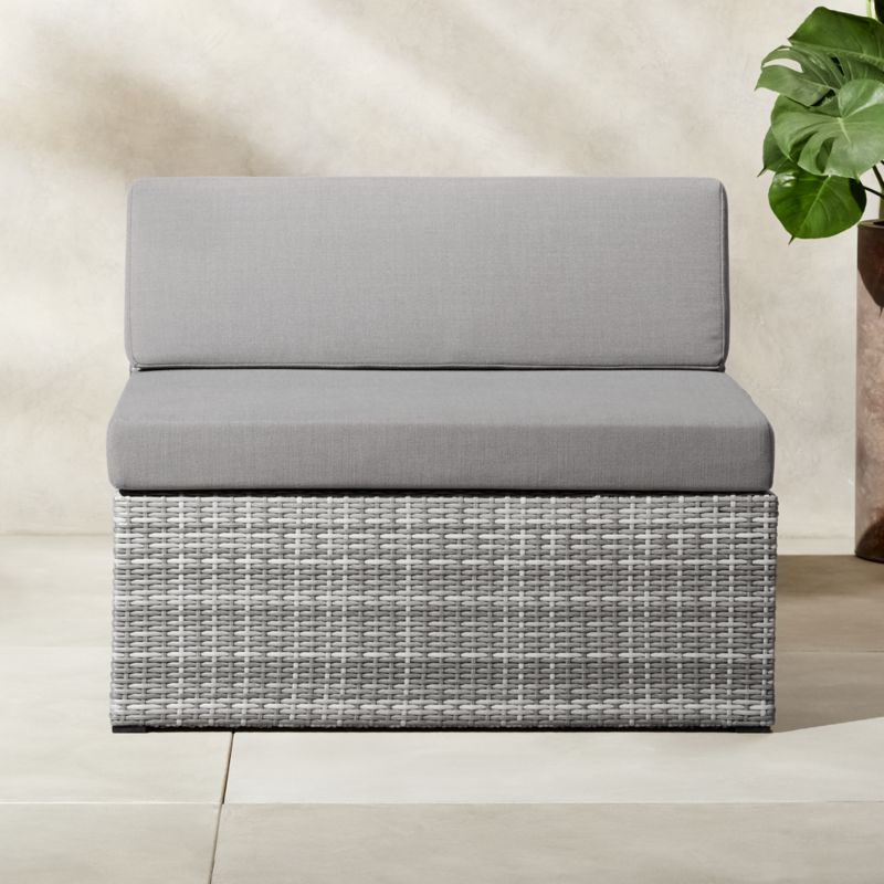 modern rattan furniture. Polk Rattan Armless Chair Modern Furniture