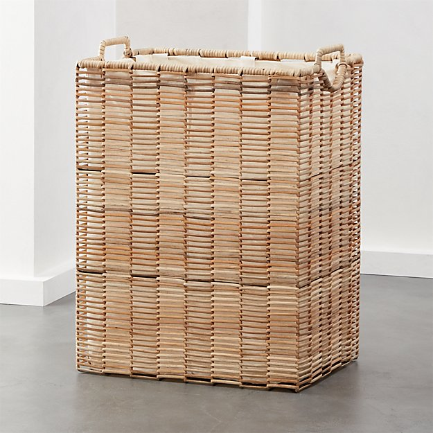 Pomona Rattan Hamper with Liner - Image 1 of 5
