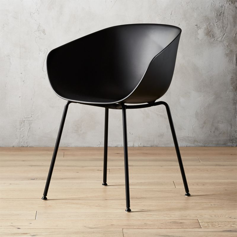 modern chair plastic. Poppy Black Plastic Chair Modern