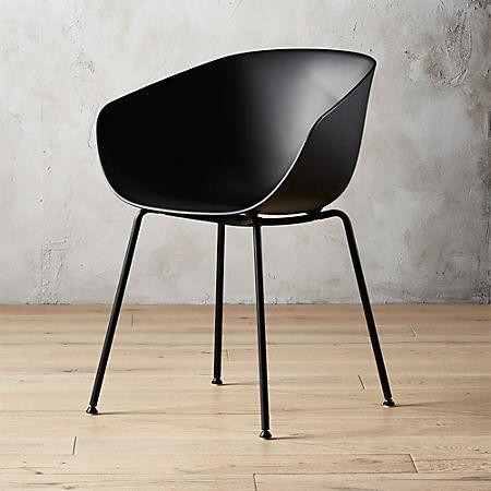 Sensational Poppy Black Plastic Chair Squirreltailoven Fun Painted Chair Ideas Images Squirreltailovenorg
