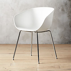 Poppy White Plastic Chair