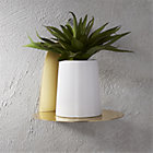 View product image portal brushed gold shelf - image 5 of 8