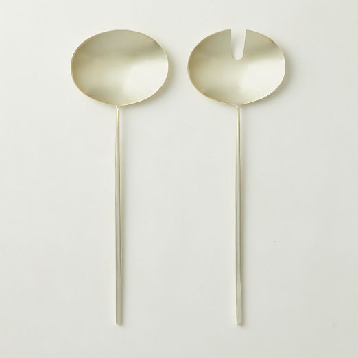 Porter Gold Salad Servers Set of 2