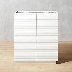 Porto White Storage Cabinet