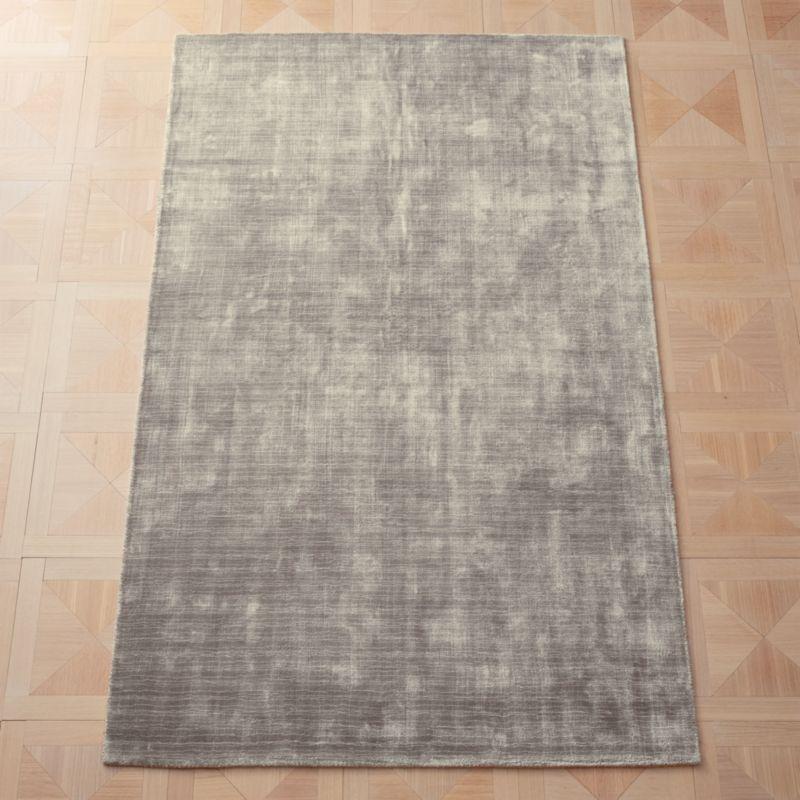 Posh Silver Grey Rug Cb2