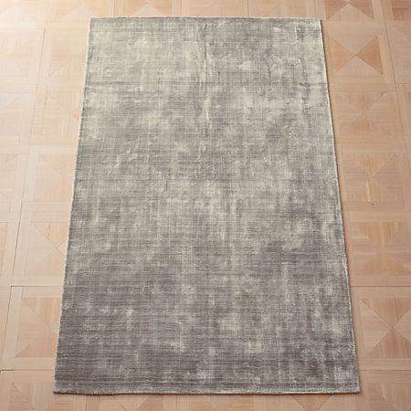 Posh Silver Grey Rug | CB2