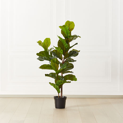 Faux Potted Fiddle Leaf Fig Tree 4'