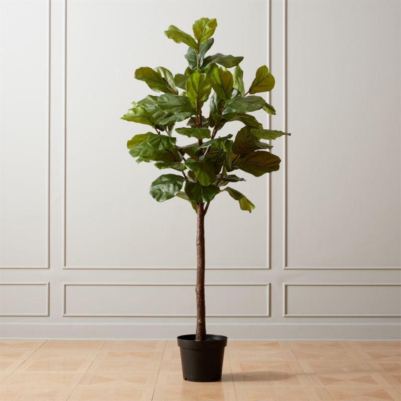 Faux Potted Fiddle Leaf Fig 7 Reviews Cb2