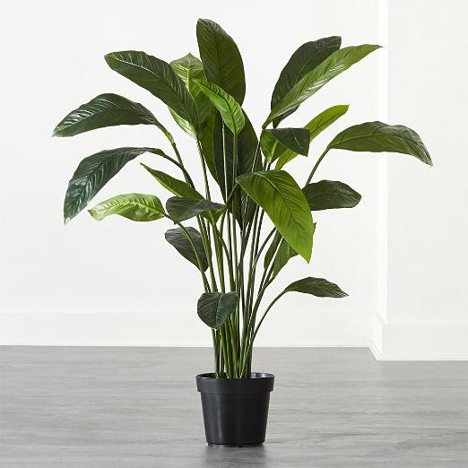 Faux Potted Leaf Plant 4'