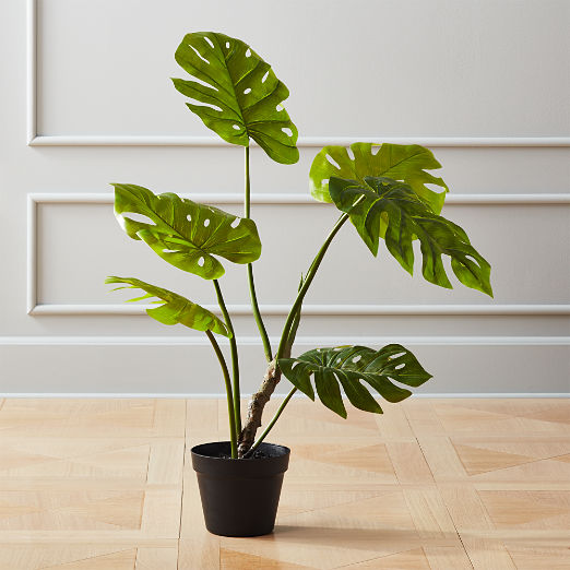 """Faux Potted Monstera Plant 29"""""""