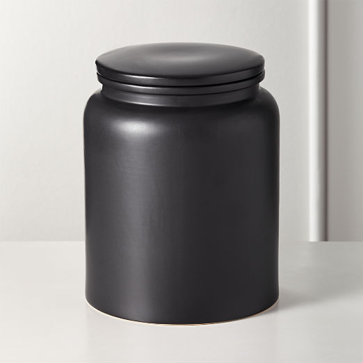 Charmant Prep Black Extra Large Canister