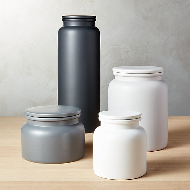 Prep Stoneware Kitchen Canisters | CB2