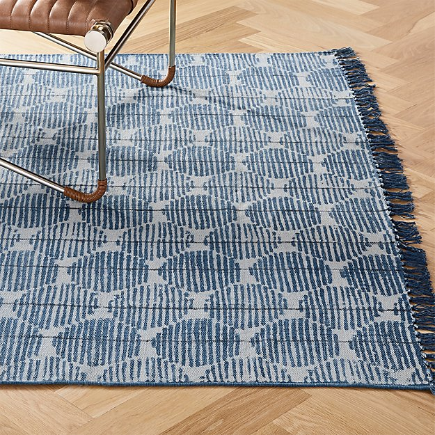 Press Indigo Rug - Image 1 of 11
