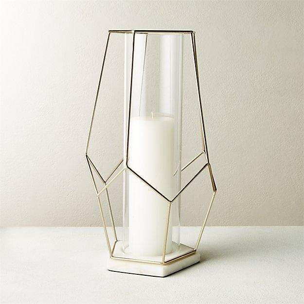 Pria Champagne Marble Geometric Hurricane - Image 1 of 7