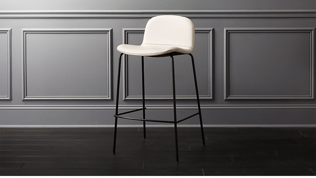 Primitivo White 30 Bar Stool Reviews Cb2