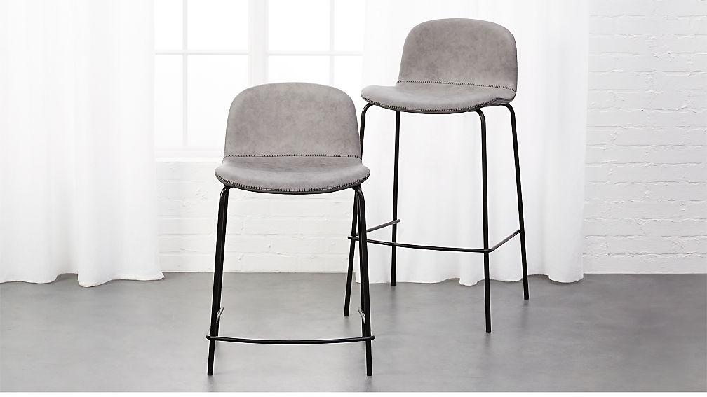 primitivo grey bar stools cb2 rh cb2 com Light Gray Chairs Gray Accent Chairs