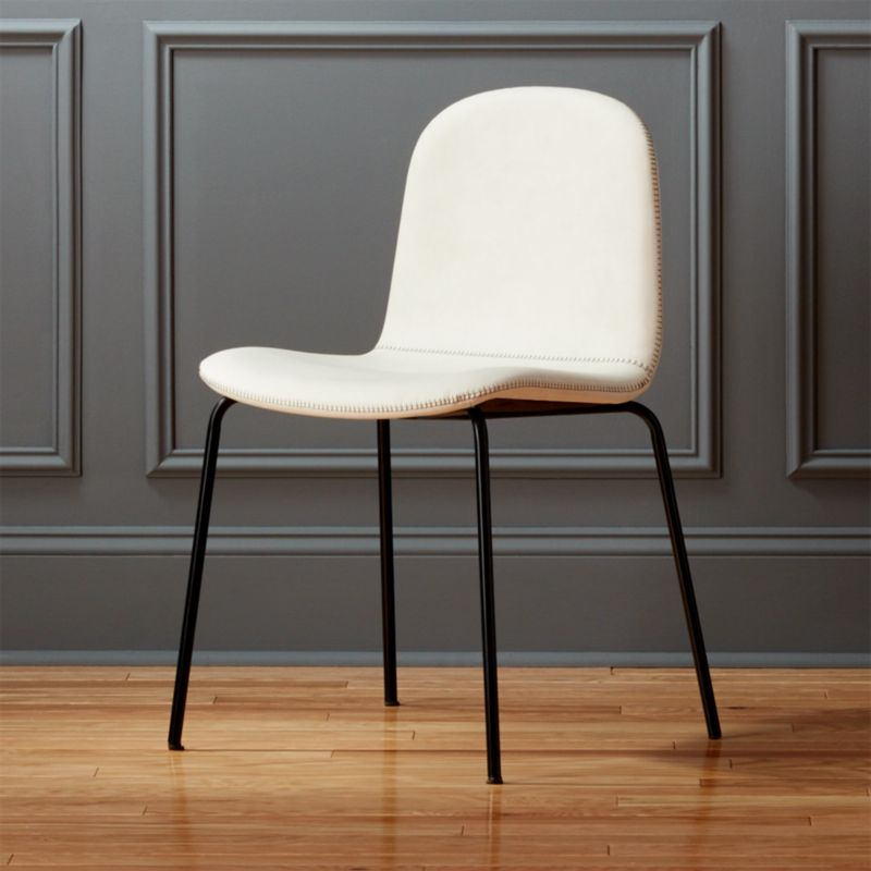 Primitivo White Chair by Crate&Barrel