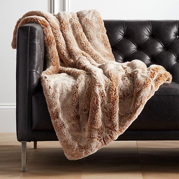 Premium Oatmeal Faux Fur Throw - Image 1 of 6